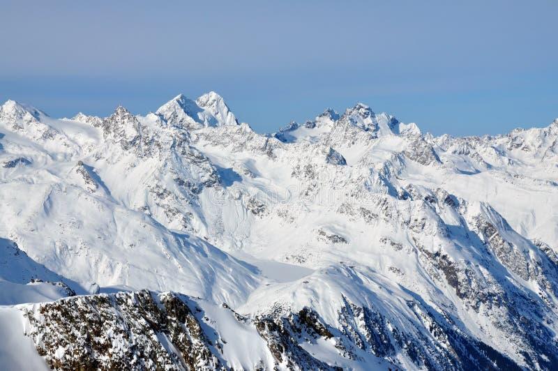 Het landschap van alpen, van Tirol stock afbeeldingen