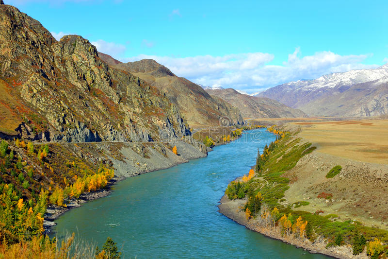Het landschap van Altai stock afbeeldingen