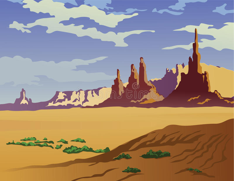 Het Landschap van Arizona stock illustratie