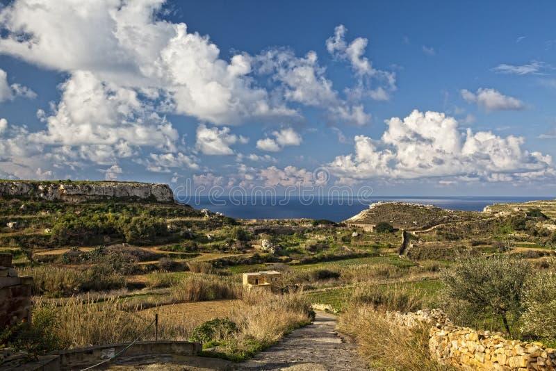 Het Landschap van Bahrija stock fotografie
