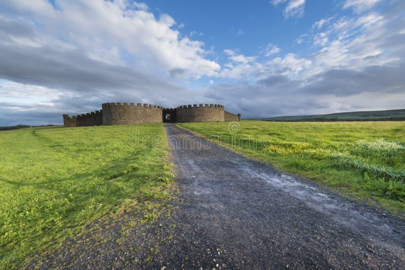 Het landschap van bergaf huisvest, Castle Rock royalty-vrije stock foto