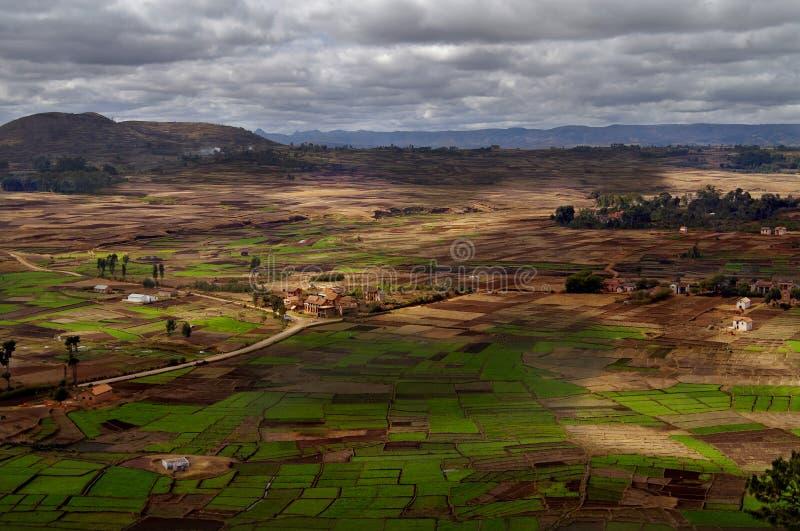 Het landschap van Betsileo in Madagascar stock foto's