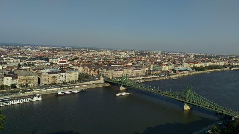 Het landschap van Boedapest stock foto's