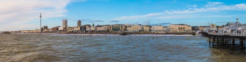 Het landschap van Brighton Pier en van het Strand royalty-vrije stock fotografie