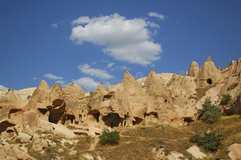 Download Het Landschap Van Cappadocia Stock Foto - Afbeelding bestaande uit toerist, building: 44108