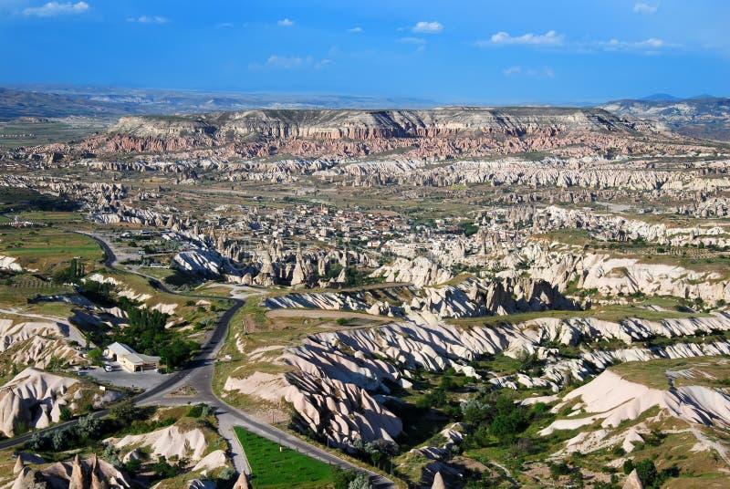 Het landschap van Cappadocia in Turkije royalty-vrije stock afbeeldingen