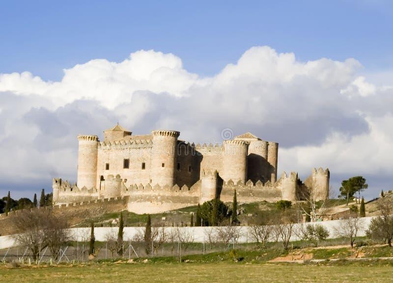 Het Landschap van Castillo DE Belmonte stock foto's