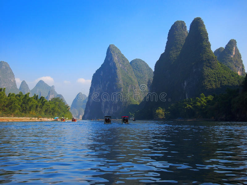 Het Landschap van China Guilin stock foto