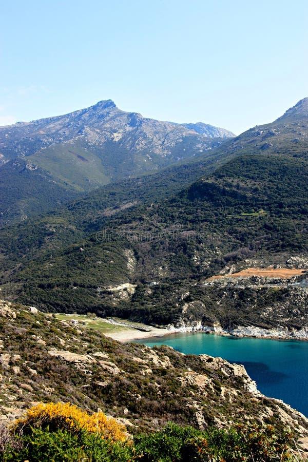 Het Landschap van Corsica van een strand royalty-vrije stock foto