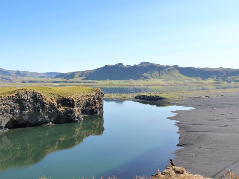 Het landschap van de aardzomer in IJsland. royalty-vrije stock fotografie