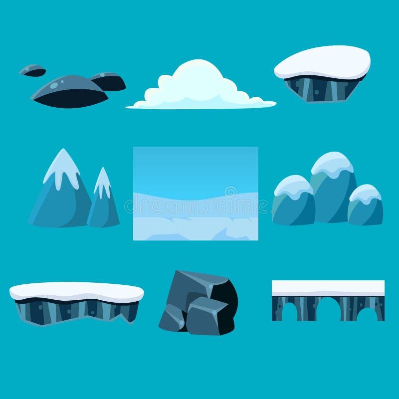 Het landschap van de beeldverhaalaard, oneindige vector royalty-vrije illustratie