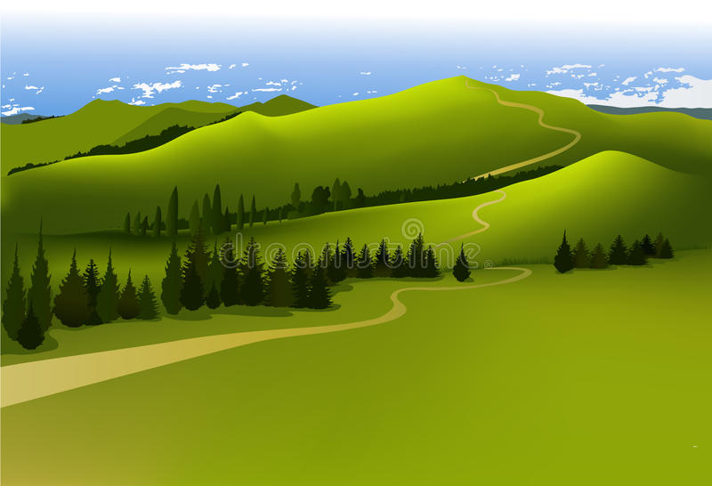 Het landschap van de berg vector illustratie