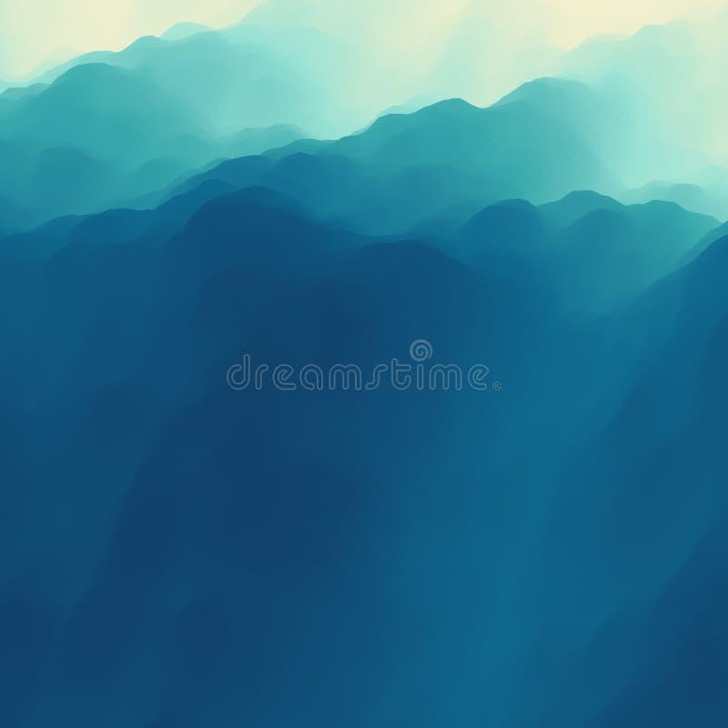 Het landschap van de berg Bergachtig terrein abstracte achtergrond vector illustratie