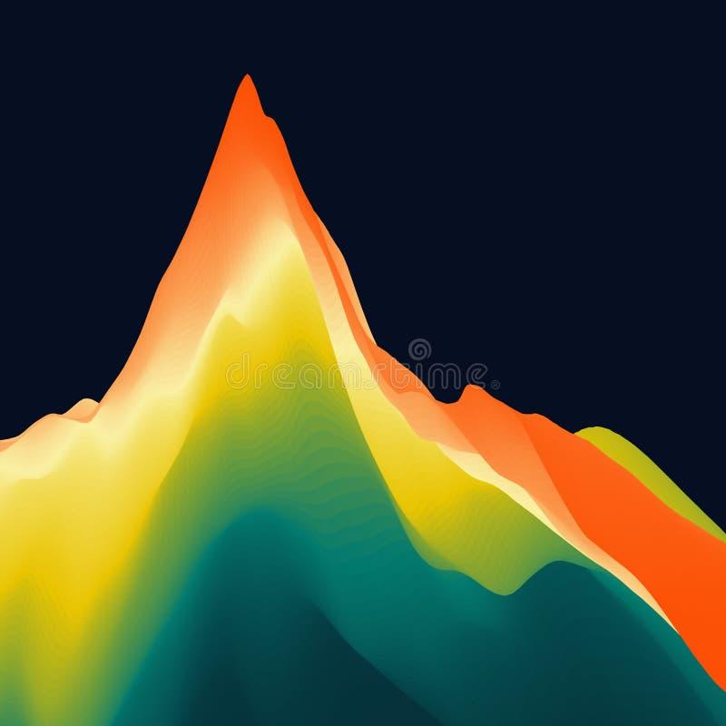 Het landschap van de berg Bergachtig terrein Vector illustratie abstracte achtergrond royalty-vrije illustratie