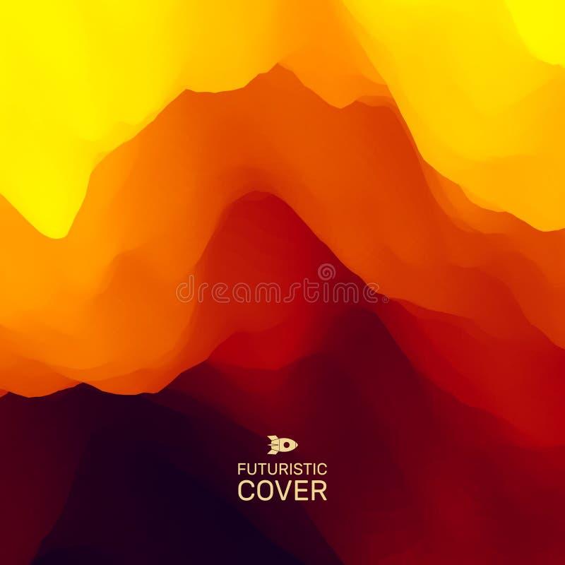 Het landschap van de berg Bergachtig terrein Vector illustratie abstracte achtergrond vector illustratie