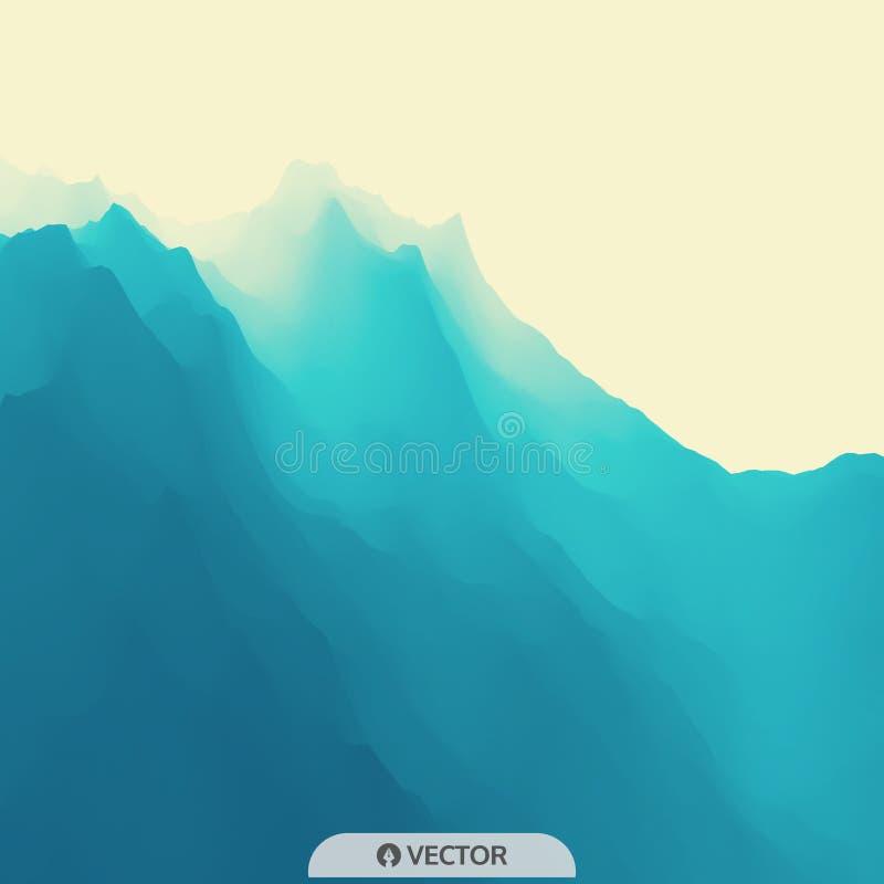 Het landschap van de berg Bergachtig terrein Vector illustratie abstracte achtergrond stock illustratie