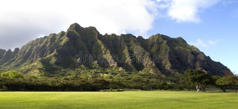 Het landschap van de berg op Oahu royalty-vrije stock afbeelding