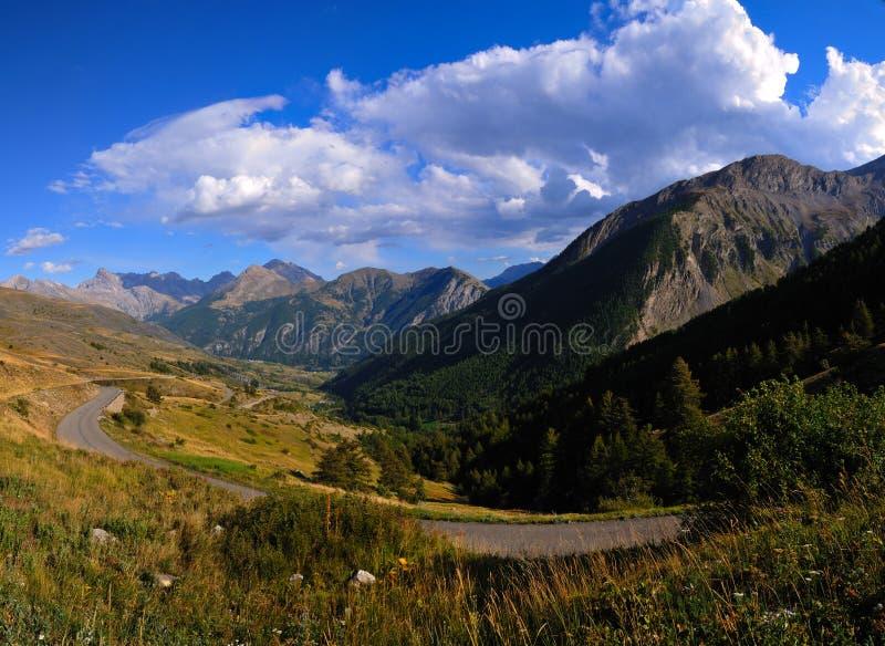 Het landschap van de berg van Col. De Vars stock foto