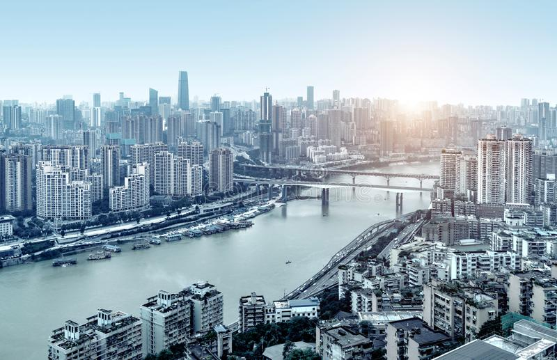 Het landschap van de Chongqingsstad stock fotografie