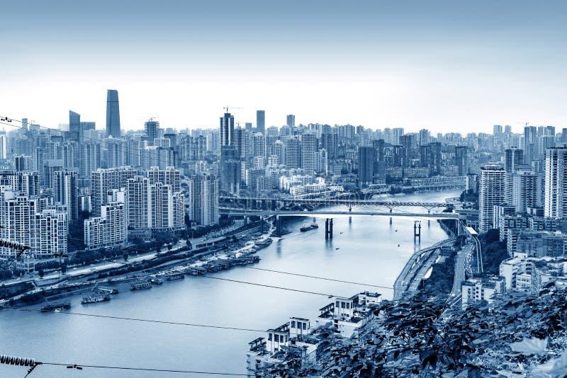 Het landschap van de Chongqingsstad stock afbeelding