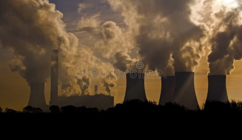 Het landschap van de fabriek royalty-vrije stock afbeeldingen