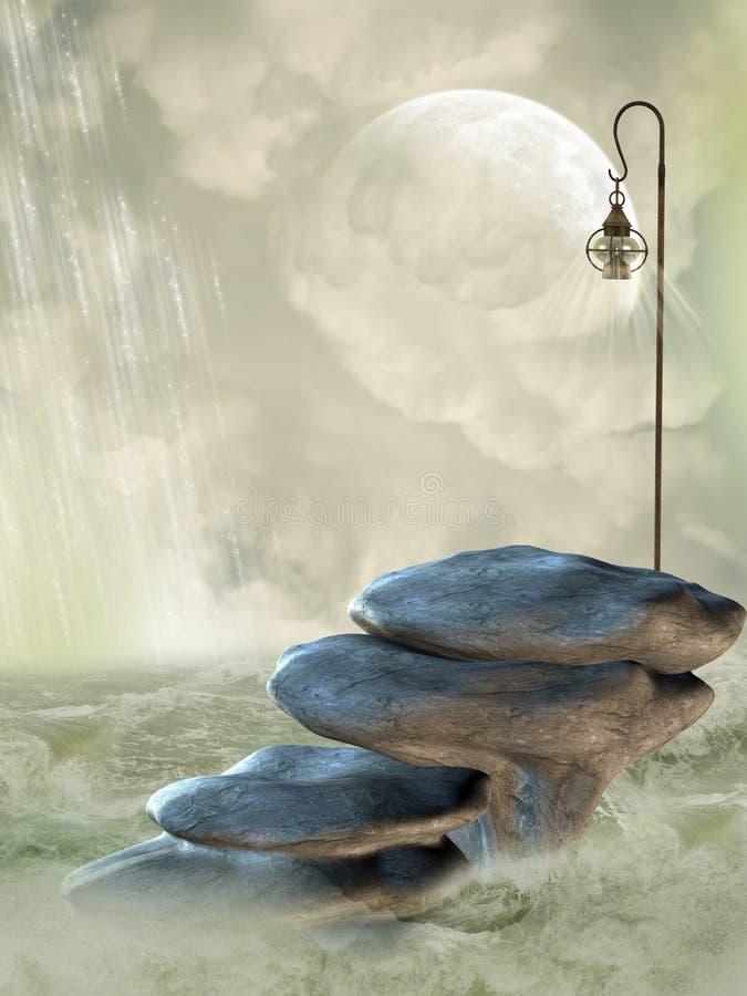 Het Landschap van de fantasie stock illustratie