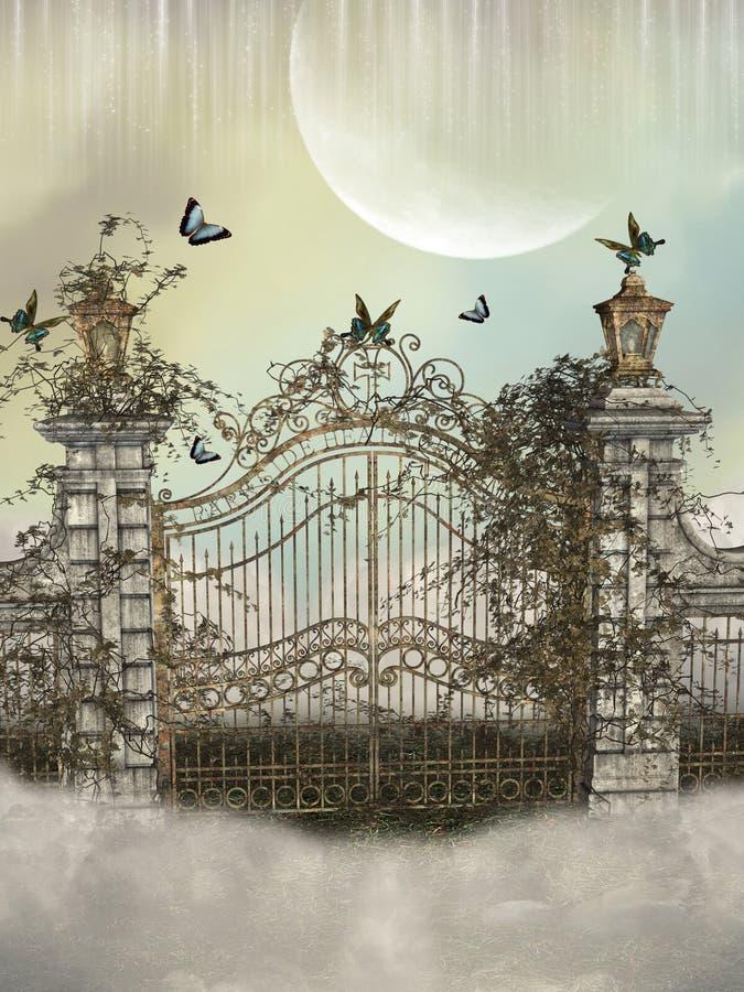 Het landschap van de fantasie royalty-vrije illustratie