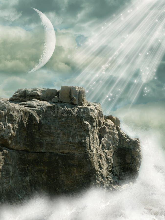 Het landschap van de fantasie stock afbeelding