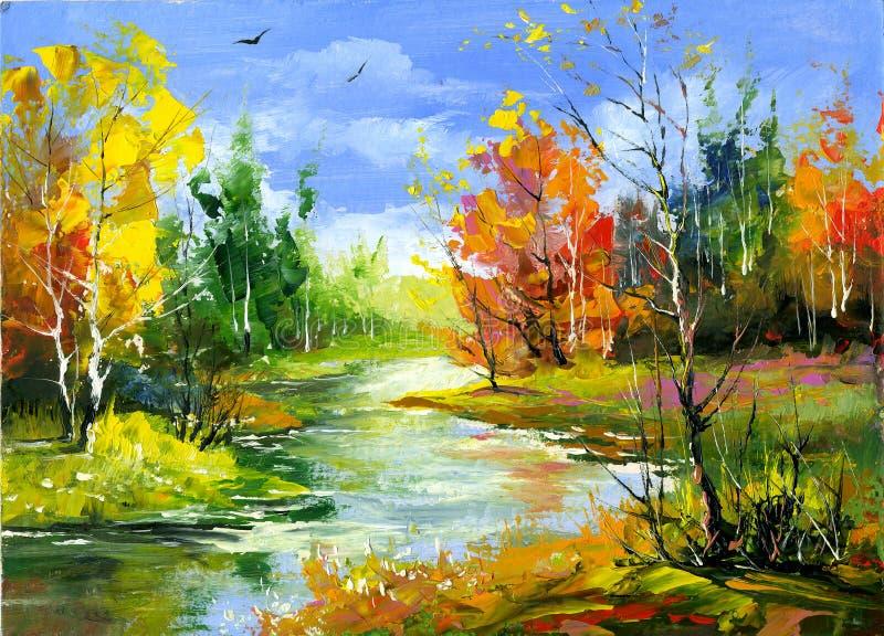 Het landschap van de herfst royalty-vrije illustratie