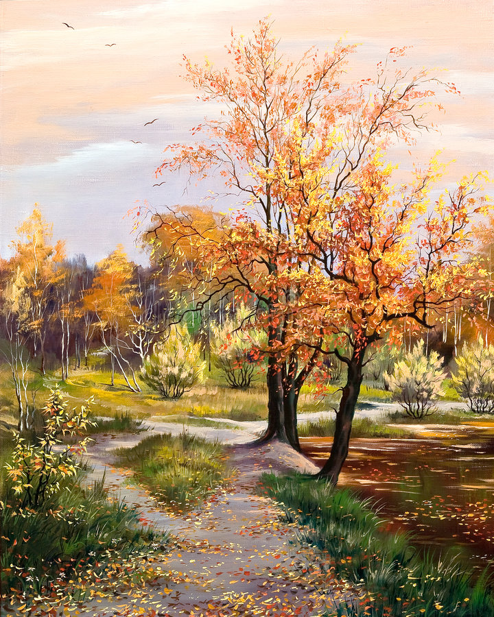 Het landschap van de herfst stock foto