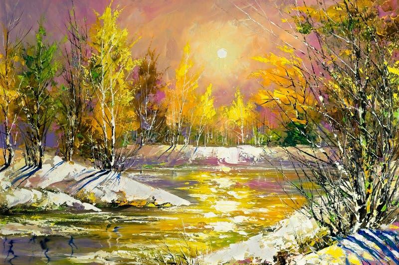Het landschap van de herfst stock illustratie