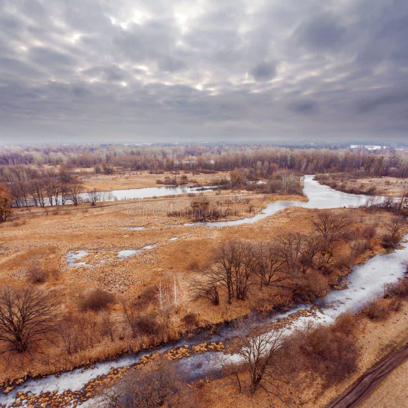 Het landschap van de Herfst De republiek Moldova stock foto's