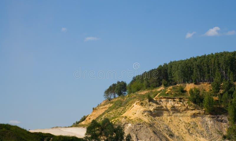 Het landschap van de heuvel stock afbeelding