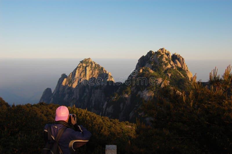 Het landschap van de Huangshanberg royalty-vrije stock foto