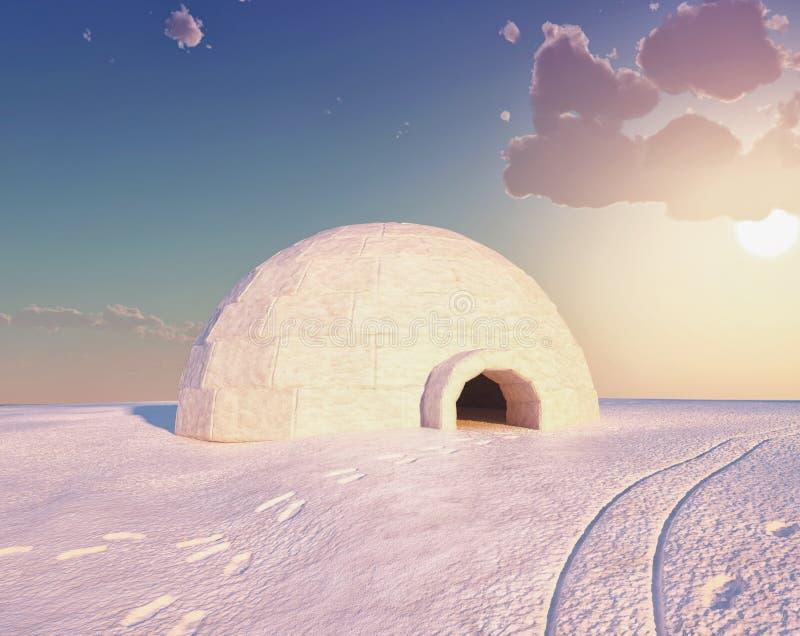 Het landschap van de iglo stock illustratie