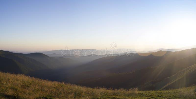 Het landschap van de Karpaten stock afbeeldingen