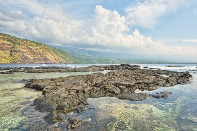 Het Landschap van de Kealakekuabaai royalty-vrije stock foto's