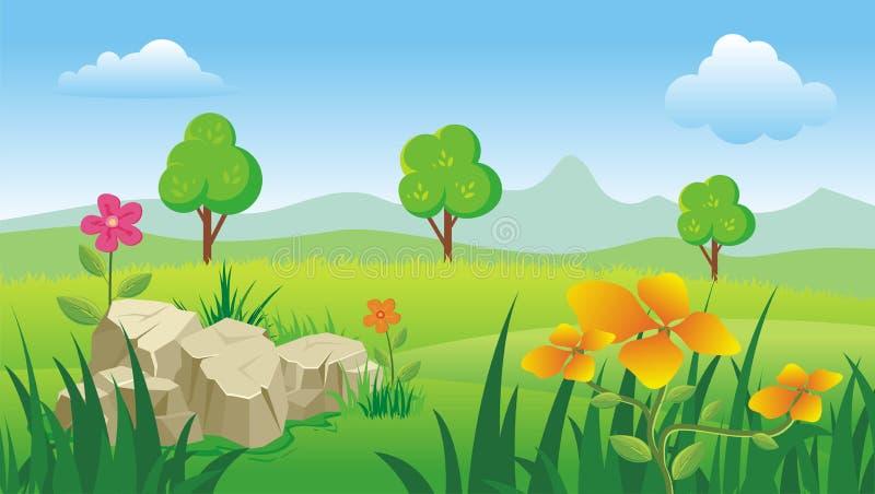 Het landschap van de lente stock illustratie