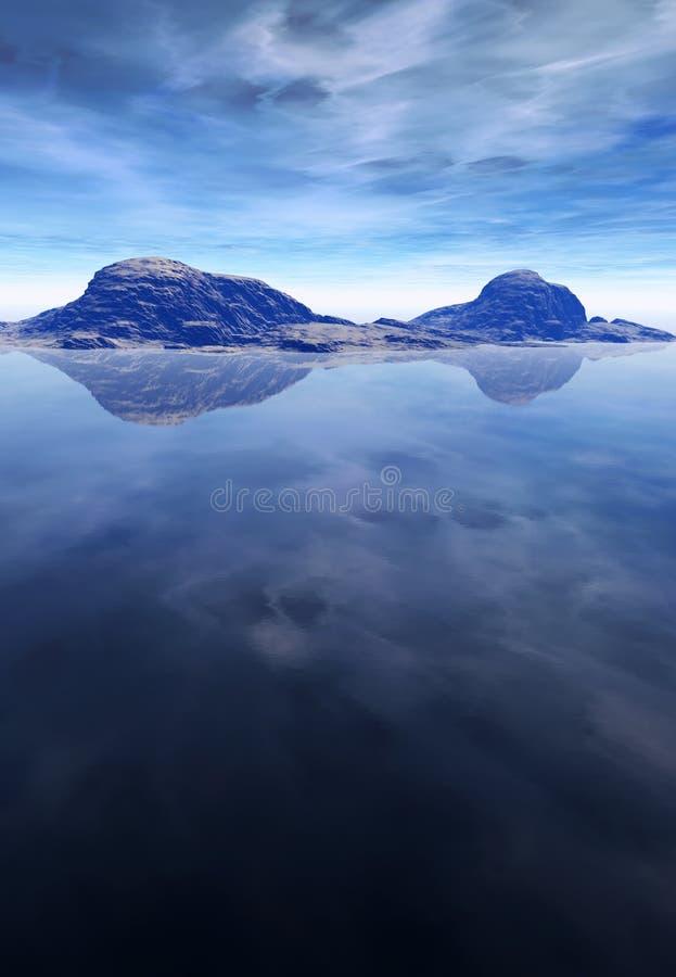 Het Landschap van de oceaan en van de Berg royalty-vrije stock afbeeldingen