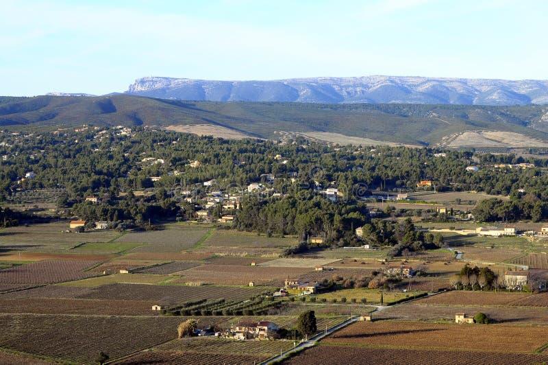 Het landschap van de Provence, Castellet, Frankrijk royalty-vrije stock fotografie