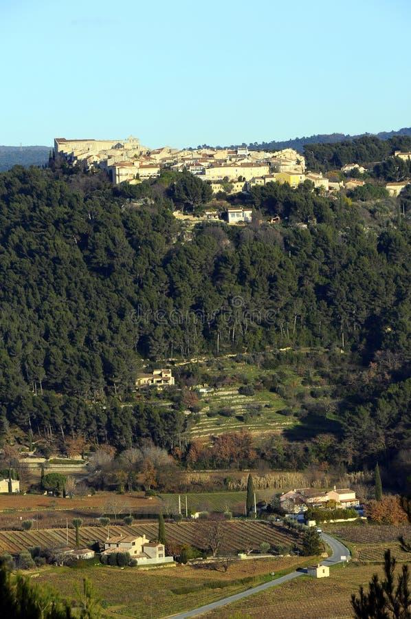 Het landschap van de Provence, Castellet, Frankrijk royalty-vrije stock afbeelding