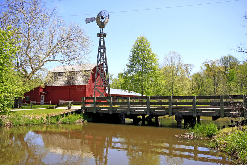 Het Landschap van de Provincie van Elkhart stock fotografie