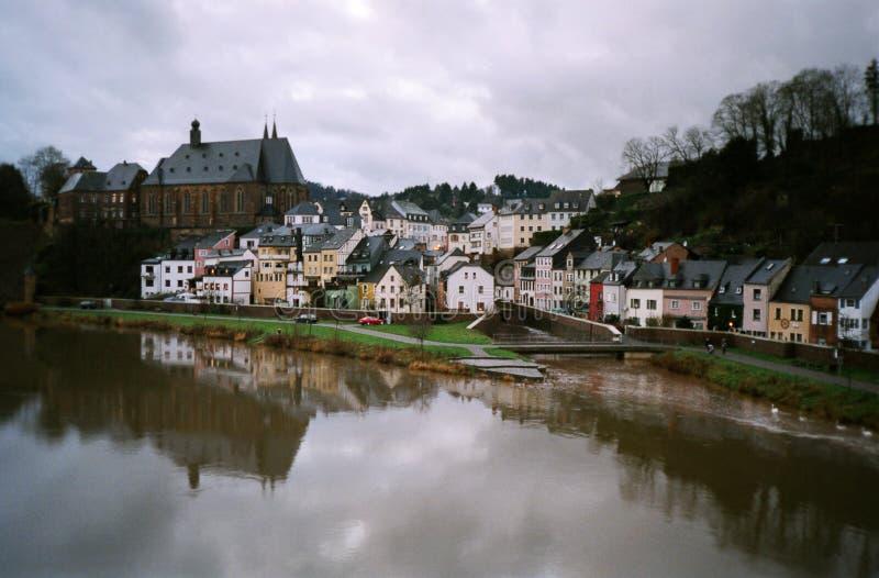 Het landschap van de rivier, Duitsland stock afbeeldingen
