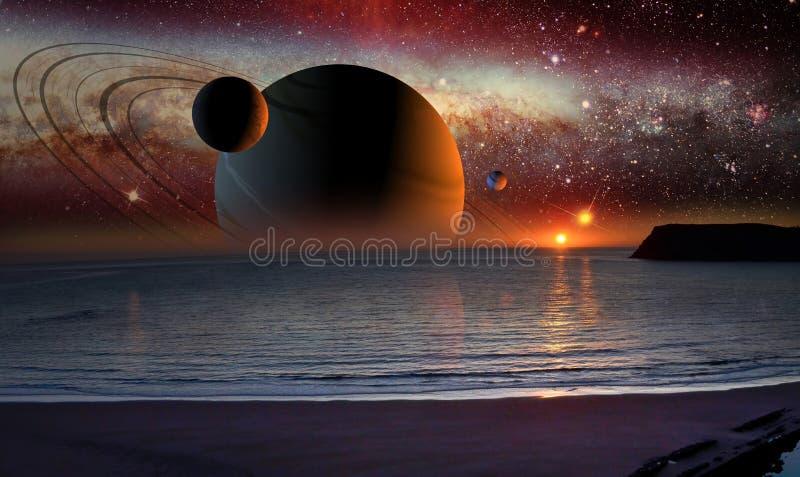 Het landschap van de science fiction royalty-vrije illustratie