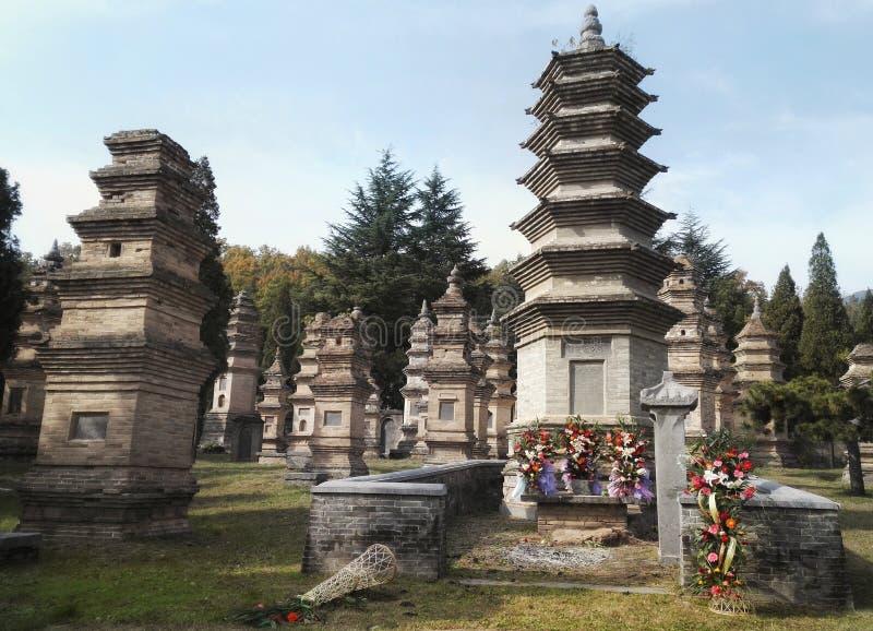 Het landschap van de Shaolintempel stock fotografie