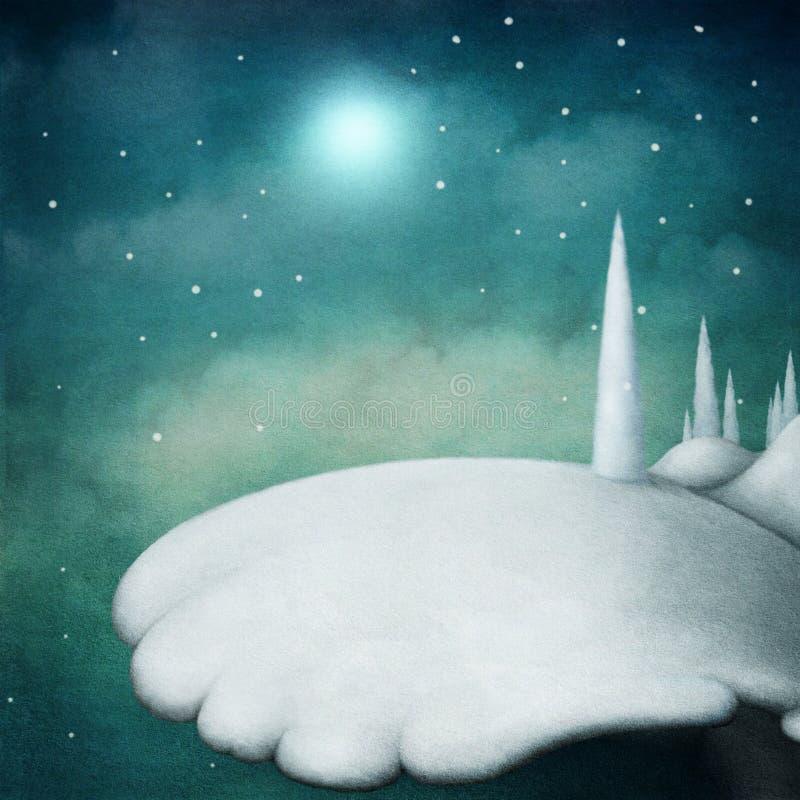 Het landschap van de sneeuw royalty-vrije illustratie