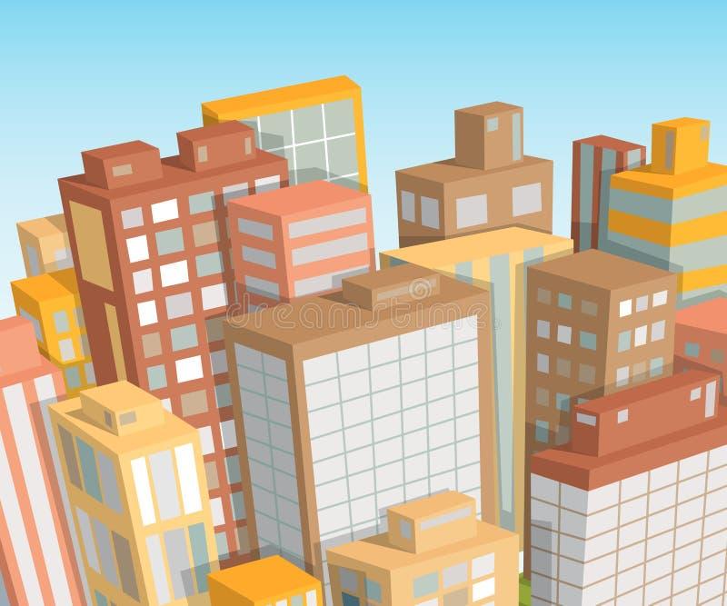 Het landschap van de stad Isometrische mening vector illustratie