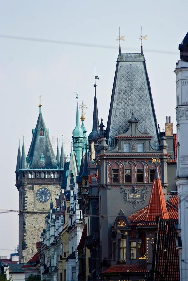 Het landschap van de stad Praag, Tsjechische Republiek stock afbeelding