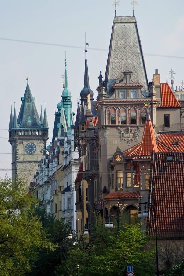 Het landschap van de stad Praag, Tsjechische Republiek stock foto