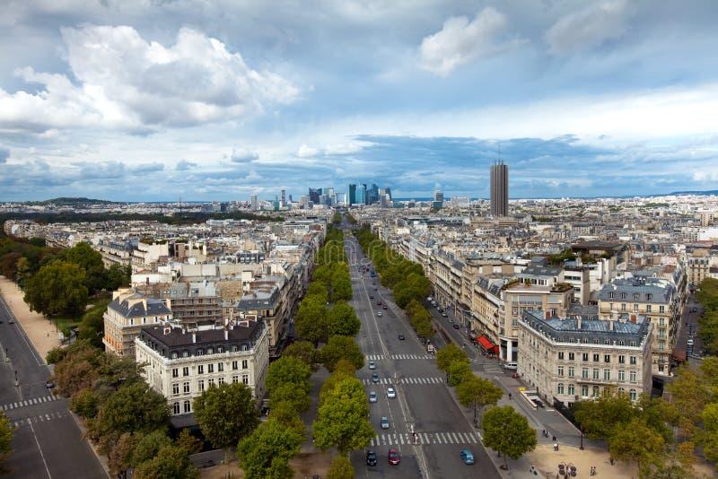 Het landschap van de stad van Parijs, Frankrijk royalty-vrije stock foto